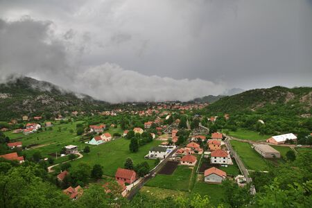 Cetinje is the ancient capital of Montenegro Stok Fotoğraf