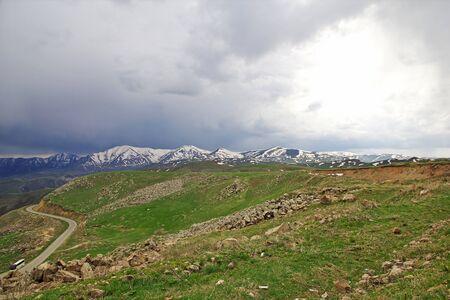 The view on the mountains of the Caucasus, Armenia Stock Photo