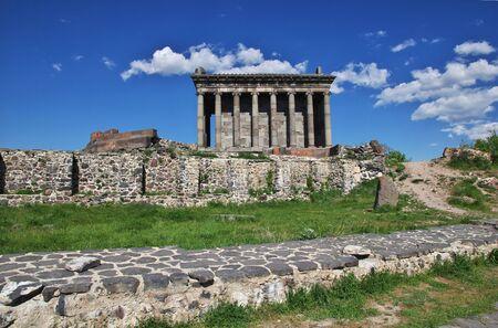 Garni Temple in mountains of the Caucasus, Armenia Stock Photo