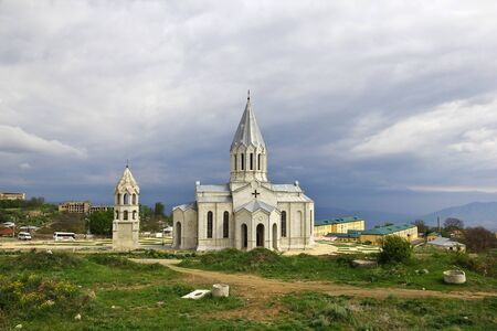 The church in Shushi city, Nagorno - Karabakh, Caucasus Foto de archivo