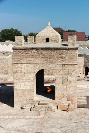 The zoroastrian fire temple Ateshgah, Azerbaijan 版權商用圖片