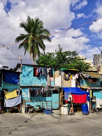 Manila, Philippins - 06 Mar 2012. The slums of Manila city, Philippines Stock Photo - 127945665