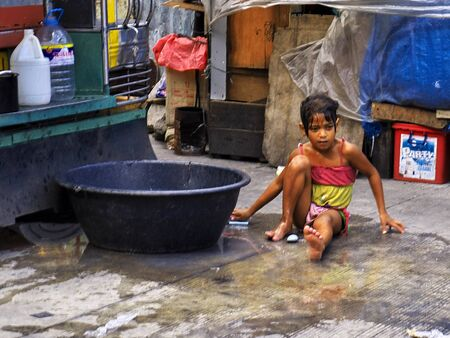 Manila, Philippins - 06 Mar 2012. The slums of Manila city, Philippines Stock Photo - 127945669