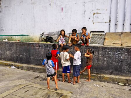 Manila, Philippins - 06 Mar 2012. The slums of Manila city, Philippines Stock Photo - 127945686