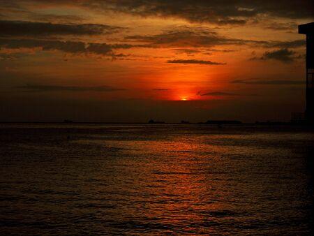 Sunset in Manila city, Philippines
