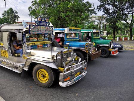 Manila, Philippins - 06 Mar 2012. The Jeepney on street of Manila, Philippines