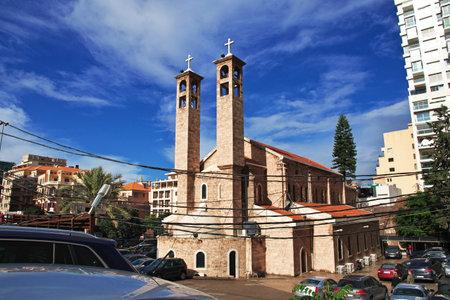 Beirut, Lebanon - 05 Jan 2018. The church in Beirut city, Lebanon Editorial