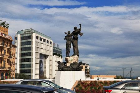 Beirut, Lebanon - 05 Jan 2018. The monument in Beirut city, Lebanon