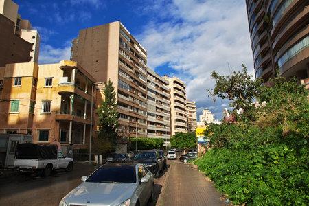 Beirut, Lebanon - 01 Jan 2018. The street in Beirut city, Lebanon Editorial