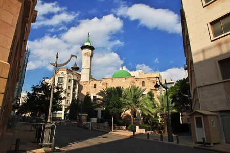 Beirut, Lebanon - 30 Dec 2017. The mosque in Beirut city, Lebanon