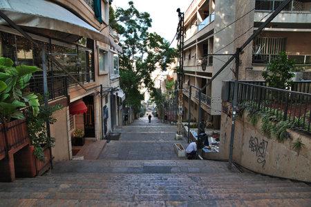 Beirut, Lebanon - 30 Dec 2017. The street in Beirut city, Lebanon