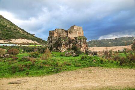Mseilha Fort in Batroun, Lebanon Banque d'images
