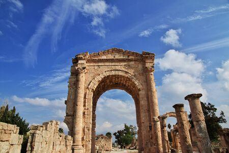Roman ruins in Tyre (Sour), Lebanon Фото со стока