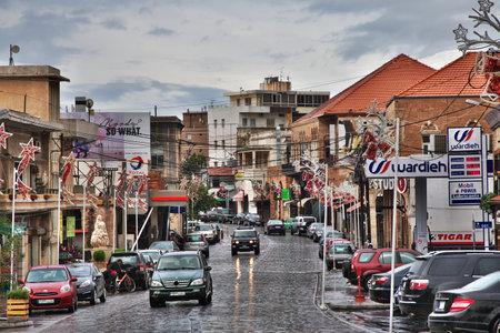 Batroun, Lebanon - 04 Jan 2018. The street in Batroun, Lebanon