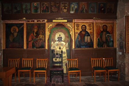 Paphos/Cyprus - 05 Jan 2016: The ancient church in Paphos, Cyprus