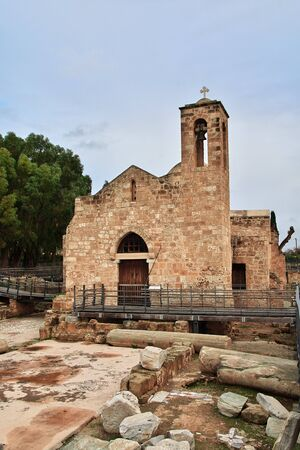 The ancient church in Paphos, Cyprus