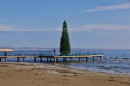 The seafront in Larnaca city, Cyprus Stock Photo