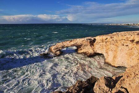 The storm on Mediterranean sea, Cyprus Banco de Imagens