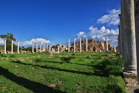 Ancient ruins Salamis, Northern Cyprus Stock Photo
