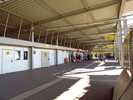 Vienna/Austria - 10 Jun 2011: The train station in Vienna, Austria