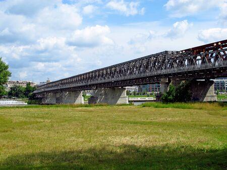 The bridge on Danube river in Bratislava, Slovakia