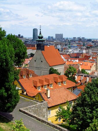 The view on old city in Bratislava, Slovakia Stock Photo