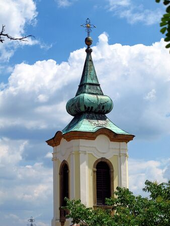 The church in Szentendre town in Hungary country