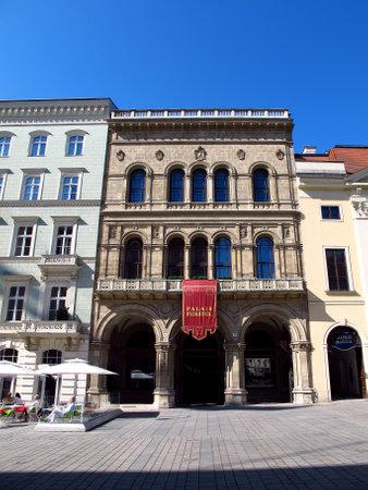 Vienna / Austria - 11 Jun 2011: The building in the center of Vienna, Austria