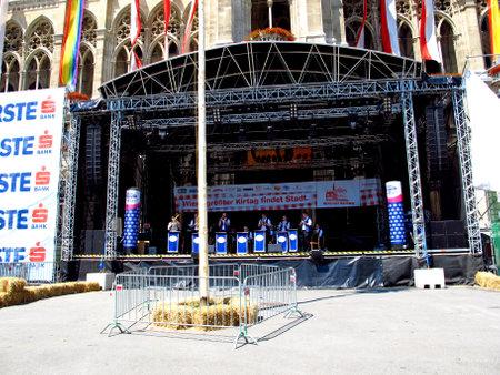 Vienna / Austria - 11 Jun 2011: The scene in the center of Vienna, Austria