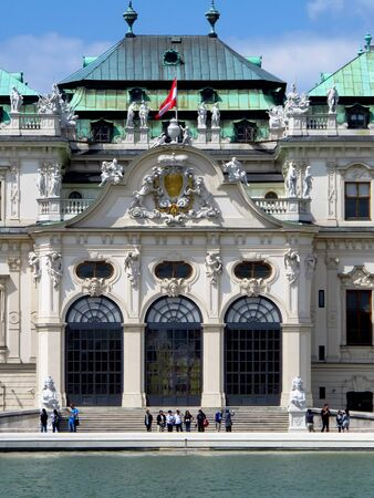 Vienna / Austria - 10 Jun 2011: Belvedere palace in Vienna, Austria