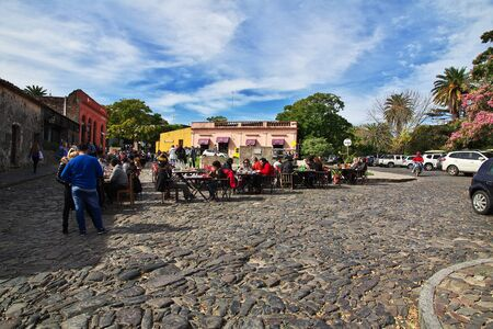 Colonia del Sacramento  Uruguay - 01 May 2016: The street in Colonia del Sacramento, Uruguay Editorial