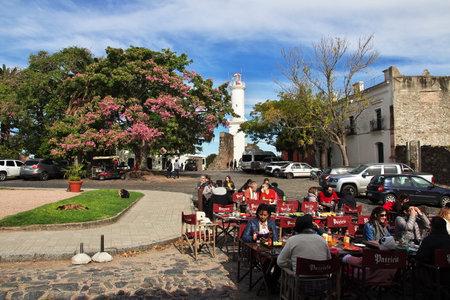 Colonia del Sacramento  Uruguay - 01 May 2016: The street in Colonia del Sacramento, Uruguay Editorial