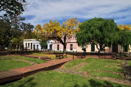 The park in Colonia del Sacramento, Uruguay Standard-Bild