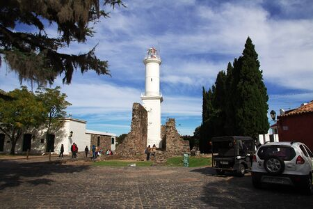 Colonia del Sacramento  Uruguay - 01 May 2016: The lighthouse in Colonia del Sacramento, Uruguay Editorial
