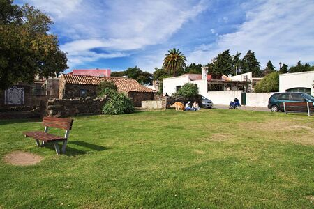 Colonia del Sacramento  Uruguay - 01 May 2016: The park in Colonia del Sacramento, Uruguay Editorial