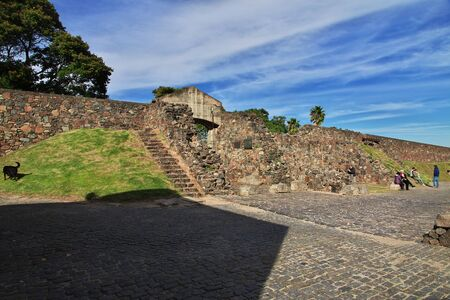 Colonia del Sacramento  Uruguay - 01 May 2016: The fortress in Colonia del Sacramento, Uruguay