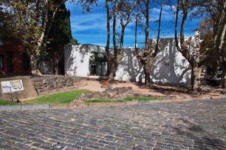 The park in Colonia del Sacramento, Uruguay Standard-Bild - 126564968