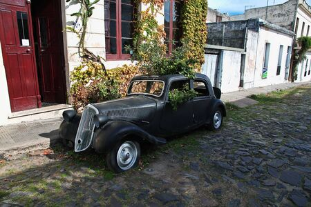 Colonia del Sacramento  Uruguay - 01 May 2016: Old cars in Colonia del Sacramento, Uruguay