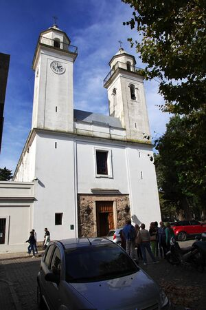 Colonia del Sacramento  Uruguay - 01 May 2016: The church in Colonia del Sacramento, Uruguay