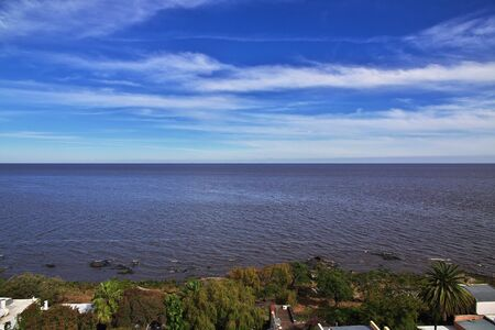 The view on river in Colonia del Sacramento, Uruguay Imagens