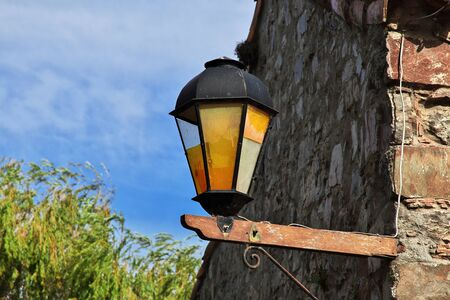 The lamp in Colonia del Sacramento, Uruguay