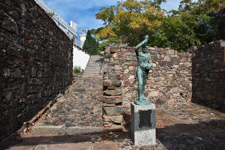 Colonia del Sacramento  Uruguay - 01 May 2016: The monument in Colonia del Sacramento, Uruguay