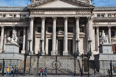 Buenos Aires / Argentina - 02 May 2016: The Parliament house in Buenos Aires, Argentina