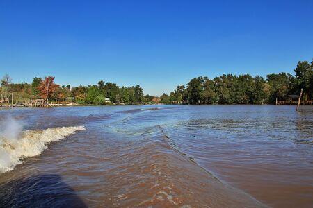 Das Delta des Flusses Tigre, Buenos Aires, Argentinienes Standard-Bild