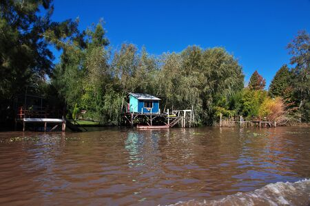 Buenos Aires  Argentina - 03 May 2016: The delta of Tigre river, Buenos Aires, Argentina