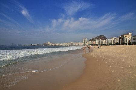 Rio de Janeiro / Brazil - 07 May 2016: Copacabana beach in Rio de Janeiro, Brazil