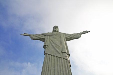 Rio de Janeiro / Brazil - 08 May 2016: The monument of Christ the Redeemer in Rio de Janeiro, Brazil