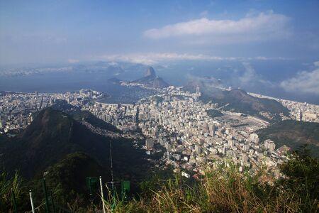 The view from Corcovado hill on Rio de Janeiro, Brazil
