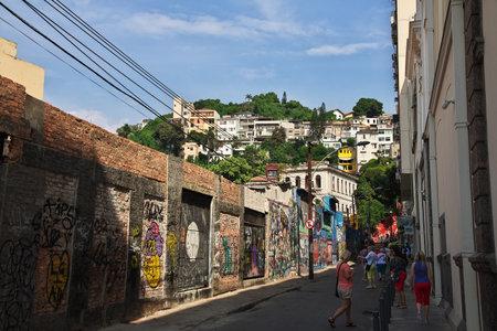 Rio de Janeiro / Brazil - 07 May 2016: Selaron Steps in Rio de Janeiro, Brazil Editorial