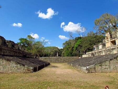 Ancient ruins in Copan, Honduras 免版税图像